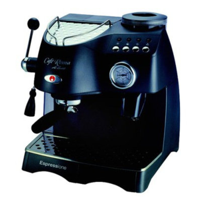 Espressione Caf? Roma Deluxe Espresso Maker and Grinder - Anthracite