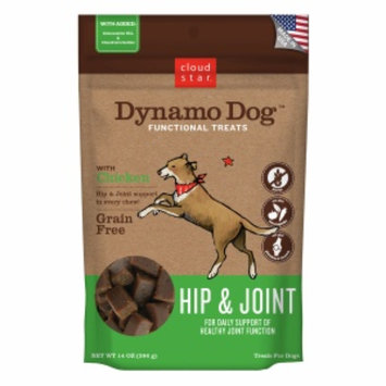 Cloud Star Dynamo Dog Functional Treats: Hip & Joint, Chicken, 14 oz