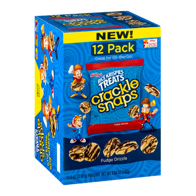 Kellogg's® Rice Krispies Treats Crackle Snaps Fudge Drizzle