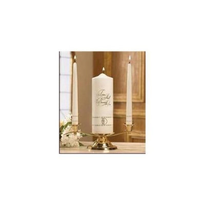 Will & Baumer 124052 Candle Wedding Unity Set Two Shall Become One Gold