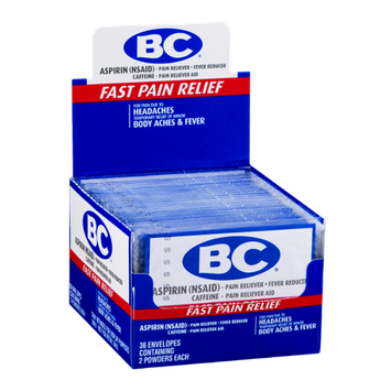 BC Aspirin Powder Headaches Body Aches & Fever - 36/2 CT