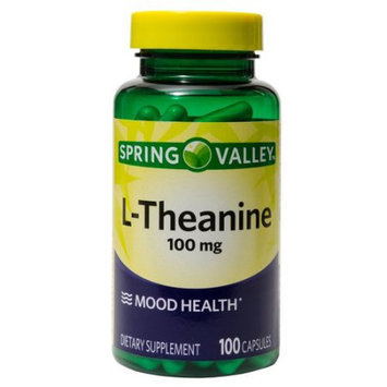 Wal-mart Stores, Inc. Spring Valley L-Theanine Dietary Supplement, 100mg, 100 count