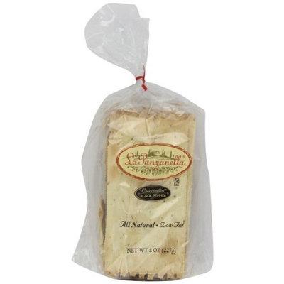 La Panzanella Black Pepper Croccantini, 8-Ounce Bags (Pack of 6)