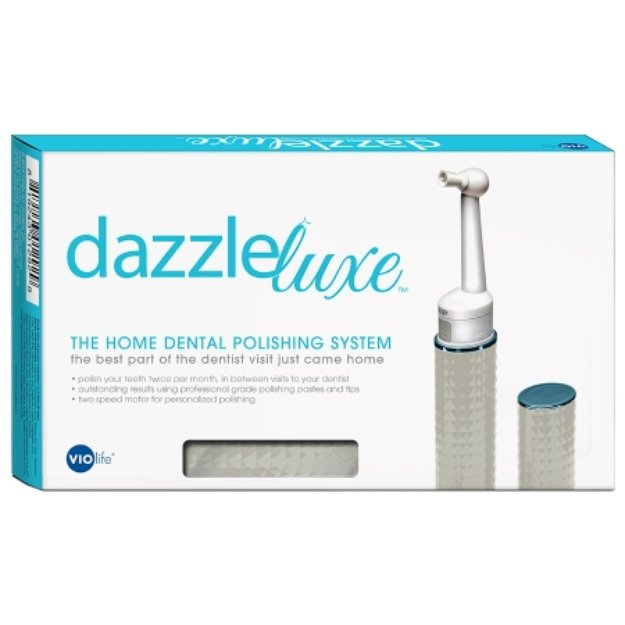 VIOlife Dazzle, Home Polishing and Stain Removal System Dazzle Tooth Polisher Kit