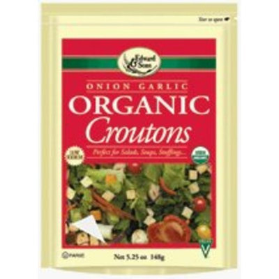 Edward & Sons Onion Garlic Croutons 5.25 oz. (Pack of 12)