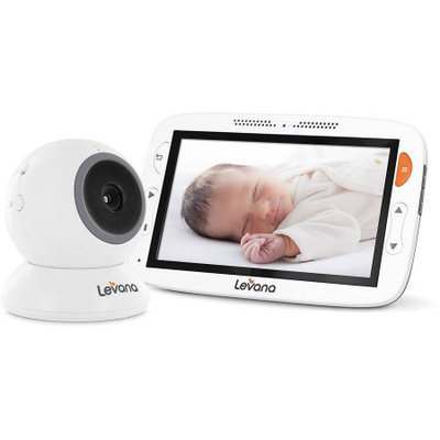 Levana Alexa 5 LCD Video Baby Monitor with Temperature Monitoring, Feeding/Nap Timer and Two Way Intercom