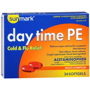 Sunmark Daytime Cold Flu Relief Softgels, 24 Caps by Sunmark