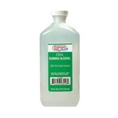 ETHYL RUBBING ALCOHOL 70 Ethyl Alcohol Rubbing - 16 Oz, 24 per case