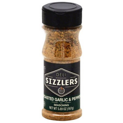 Altius Deli Sizzlers Roasted Garlic & Pepper Seasoning, 5.89 oz, (Pack of 12)