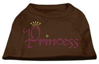 Mirage Pet Products 52-67 XSBR Princess Rhinestone Shirts Brown XS - 8