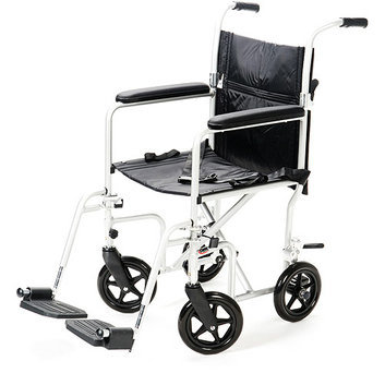 Carex Transport Chair with 8 Inch Oversized Wheels