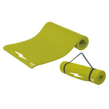 Pure Fitness Deluxe Fitness Mat, Lime, 1 ea