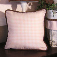 Brandee Danielle Pink Chocolate Gingham Decorative Pillow