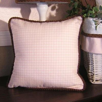 Brandee Danielle Pink Chocolate Gingham Decorative Pillow