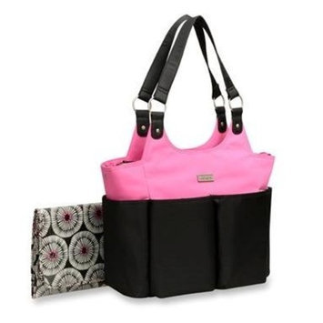 Carter's Everyday Tote Bag, Black/Pink (Discontinued by Manufacturer)