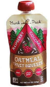 Munk Pack Oatmeal Fruit Squeeze Raspberry Coconut 4.2 oz - Vegan