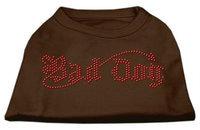Ahi Bad Dog Rhinestone Shirts Brown XS (8)