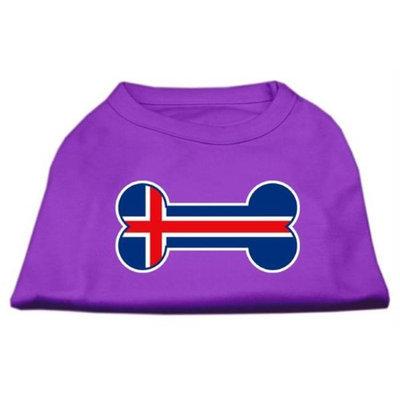 Mirage Pet Products 5116 XXXLPR Bone Shaped Iceland Flag Screen Print Shirts Purple XXXL 20
