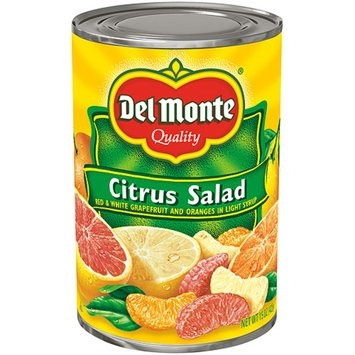 Del Monte Citrus Salad with Red & White Grapefruit Sections in Light