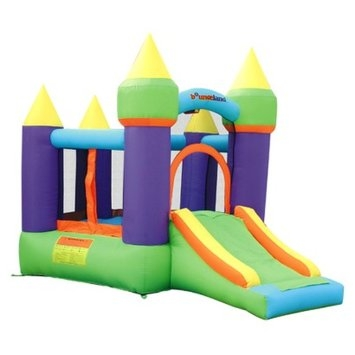 Bounceland Magic Castle Bounce House Inflatable Bouncer - Green/