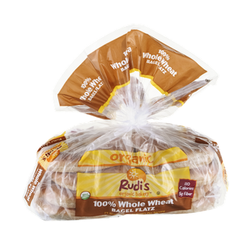 Rudi's Organic Bakery Bagel Flatz 100% Whole Wheat Organic  - 8 CT