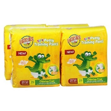 Earth's Best TenderCare Tots Potty Training Pants 4 Pack 2T-3T