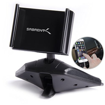 Sabrent Universal 3.5-5.5 Cell Smartphone CD Slot 360 Degree Rotating Mount