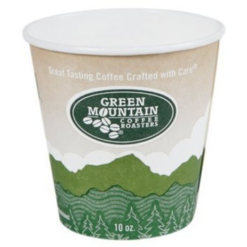 CoffeeForLess.com Green Mountain Coffee Roasters® Eco-Friendly Paper Hot Cup, 10 oz., 1000/Carton