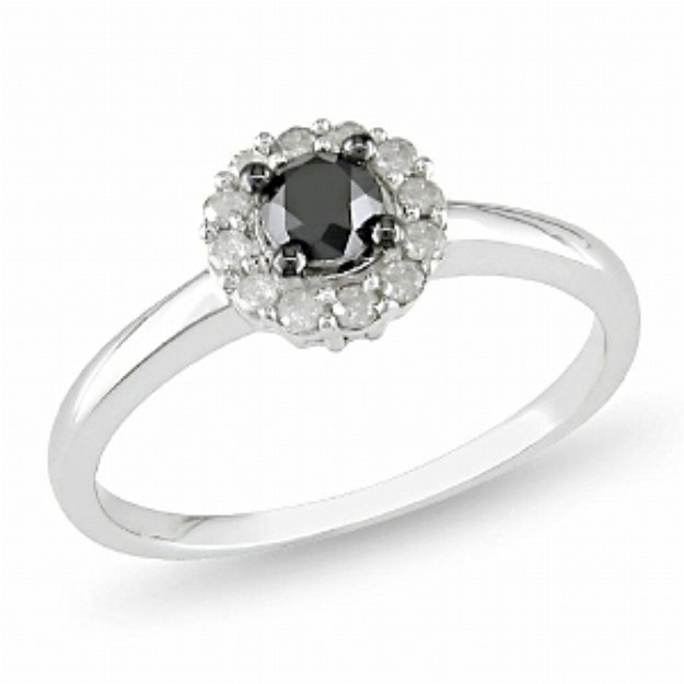 Amour 1/2 Carat Diamond Total Weight Engagement Ring Silver I3