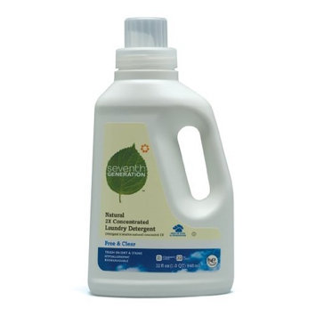 Seventh Generation 2X Conc., Free & Clear, 32-Ounce (Pack of 6)