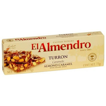 EL Almendro Turrón EL Almendro Turron Almond Caramel with Sesame Seeds, 2.5-Ounce Boxes (Pack of 16)