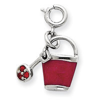 Sears Expired goldia Sterling Silver Preciosa Crystal & Enameled Bucket Charm