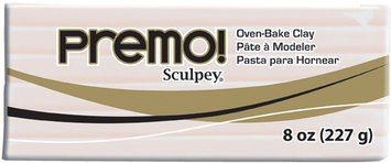 Premo Sculpey Oven-Bake Clay, 8 oz in Translucent by Premo! Sculpey