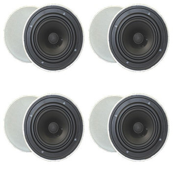 Goldwood Sound GH-65 800 W RMS Speaker - Black, White - 45 Hz to 20 kHz - 8 Ohm - In-ceiling, In-wall