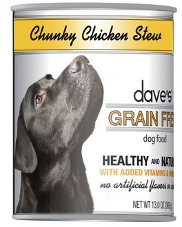 Dave's Pet Food Dave's Grain Free Chunky Chicken Stew Canned Dog Food