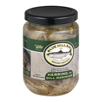 Blue Hill Bay Smoked Seafood Herring in Dill Marinade