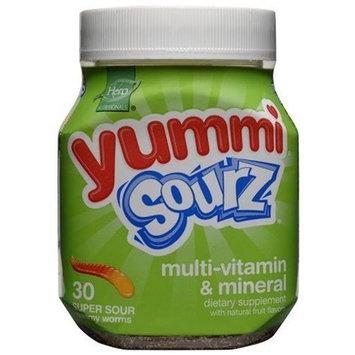 Yummi Sourz Multi-Vitamin & Mineral, 30-Count Gummy Worms