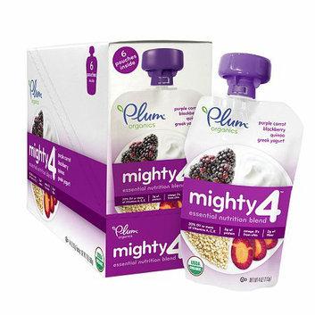 Plum Organics Tots Mighty 4 Essential Nutrition Blend Purple Carrot Berry Quinoa Greek Yogurt