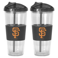 Boelter Brands MLB Giants Set of 2 No Spill Straw Tumbler - 22oz