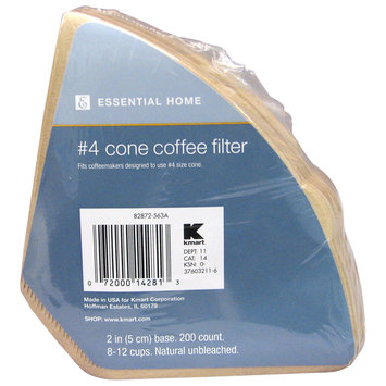 Essential Home 200-count Cone Coffee Filters