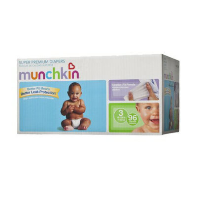 Munchkin Super Premium Diapers Box Pack - Size 3 (96 Count)