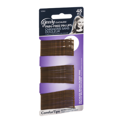 Goody Ouchless Pain-free Pin Ups Brown Bobby Pins - 48 CT