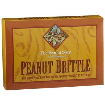 The Peanut Shop of Williamsburg Peanut Brittle, 10-Ounce Boxes (Pack of 4)