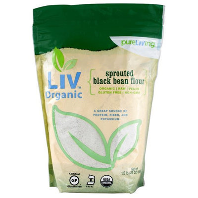Pure Living Sprouted Black Bean Flour 1.5 lbs - Vegan