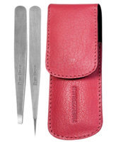 Tweezerman Petite Tweeze Set With Pink Leather Case