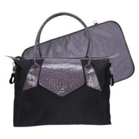 Trend Lab Rendezvous Tote Diaper Bag - Black/Gray by Lab