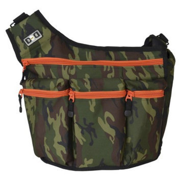 Diaper Dude Diaper Bag, Camo and Orange