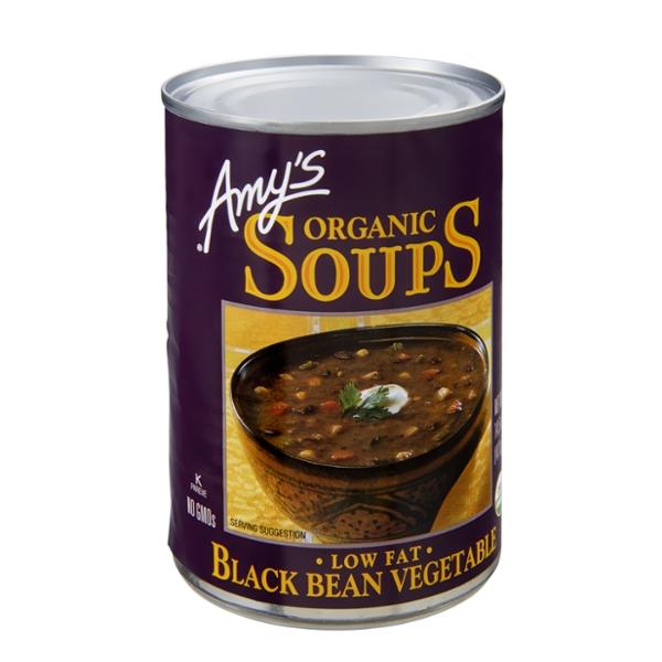 Amy's Kitchen Low Fat Organic Black Bean Vegetable Soup