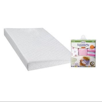 DexBaby Safe Sleep Inclined Crib Wedge with SwaddleMe Infant Wraps, Girly Bug