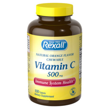 Rexall Vitamin C 500 mg - Orange Chewable Tablets, 100 ct
